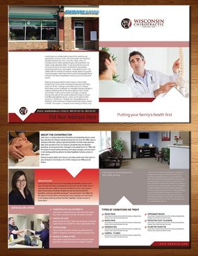 Wisconsin Chiropractic Center Marketing collateral  Draft # 1 by kapdesigner