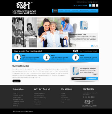 Your Personal Medical Records Complete Web Design Solution  Draft # 78 by Gouhar786