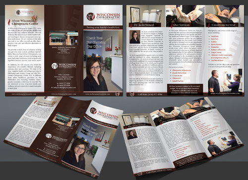 Wisconsin Chiropractic Center Marketing collateral Winning Design by Achiver
