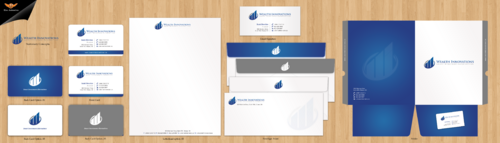 Business Card and Letterhead + Kit Folder Business Cards and Stationery Winning Design by einsanimation
