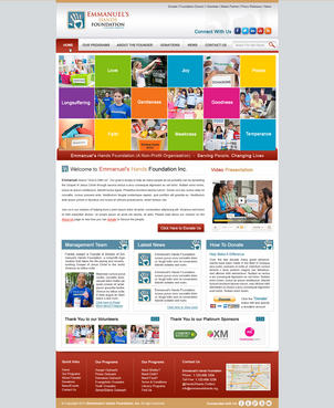 Design by MeGaMax3Ds2Dio For Wordpress Template for Nonprofit Organization