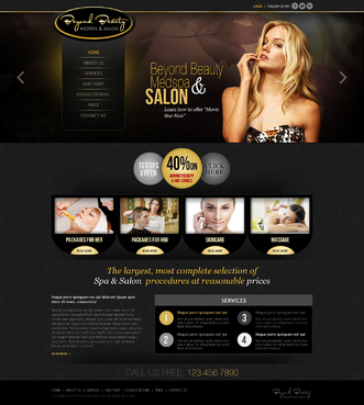 Beyond Beauty Medspa & Salon Complete Web Design Solution  Draft # 2 by timefortheweb