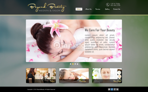 Beyond Beauty Medspa & Salon Complete Web Design Solution  Draft # 27 by xclusivedesigns