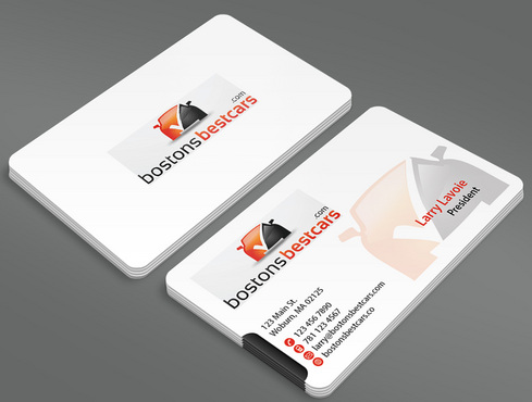 bostonsbestcars.com Business Cards and Stationery  Draft # 4 by ArtworksKingdom