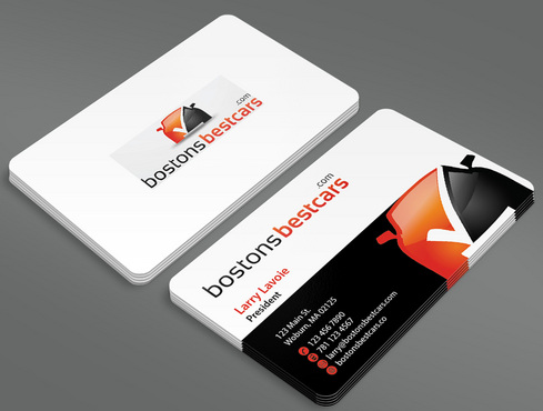 bostonsbestcars.com Business Cards and Stationery  Draft # 5 by ArtworksKingdom