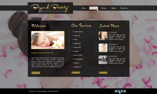 Beyond Beauty Medspa & Salon Complete Web Design Solution  Draft # 47 by xclusivedesigns