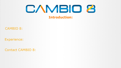 CAMBIO 8 Consultancy and freelance services  Marketing collateral  Draft # 2 by shozabhasan959