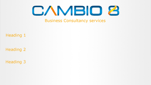 CAMBIO 8 Consultancy and freelance services  Marketing collateral  Draft # 6 by shozabhasan959