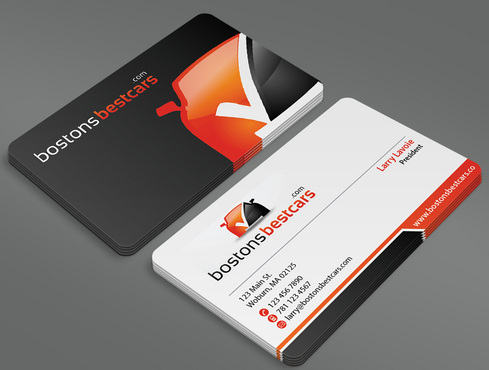 bostonsbestcars.com Business Cards and Stationery  Draft # 38 by ArtworksKingdom