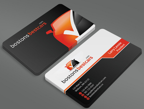 bostonsbestcars.com Business Cards and Stationery  Draft # 40 by ArtworksKingdom