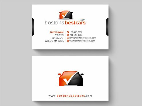 bostonsbestcars.com Business Cards and Stationery  Draft # 216 by Deck86