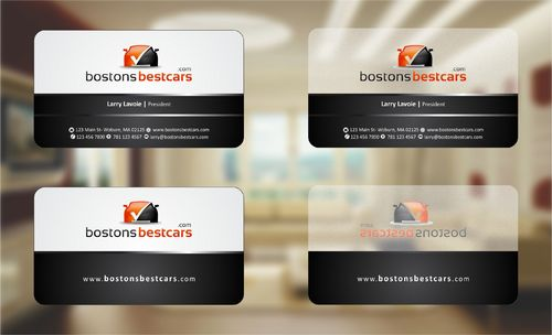 bostonsbestcars.com Business Cards and Stationery  Draft # 220 by Deck86