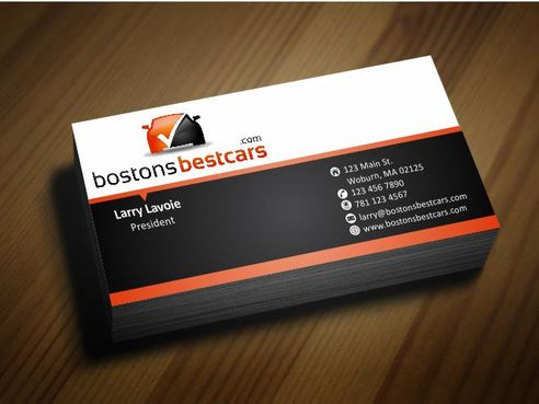bostonsbestcars.com Business Cards and Stationery  Draft # 227 by Deck86