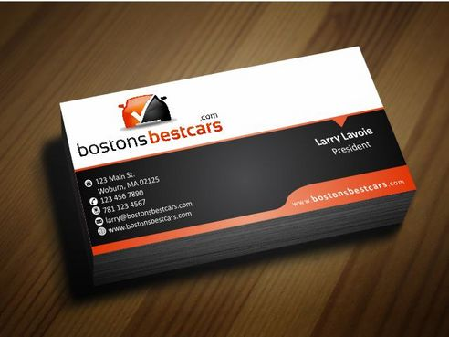 bostonsbestcars.com Business Cards and Stationery  Draft # 244 by Deck86