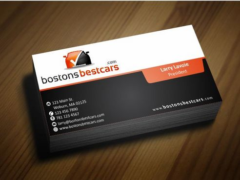 bostonsbestcars.com Business Cards and Stationery  Draft # 247 by Deck86