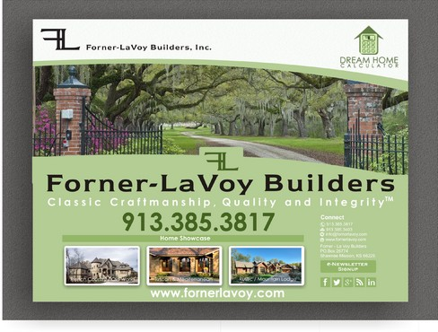 "24""-wide by 18""-tall yard sign for custom home builder Other  Draft # 6 by syukurkurnia"