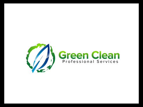 Green Clean Professional Services A Logo, Monogram, or Icon  Draft # 7 by FriesFx