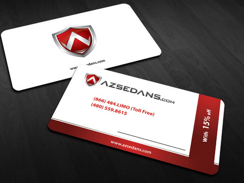 AZ Sedans Discount Card Business Cards and Stationery  Draft # 9 by Xpert