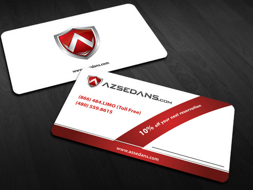 AZ Sedans Discount Card Business Cards and Stationery  Draft # 10 by Xpert