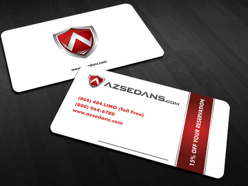 AZ Sedans Discount Card Business Cards and Stationery  Draft # 12 by Xpert
