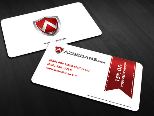 AZ Sedans Discount Card Business Cards and Stationery  Draft # 13 by Xpert
