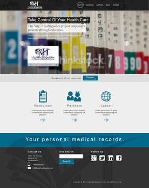 Your Personal Medical Records Complete Web Design Solution  Draft # 103 by ennweb