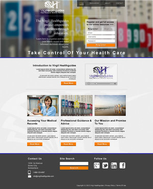 Your Personal Medical Records Complete Web Design Solution  Draft # 105 by ennweb