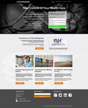 Your Personal Medical Records Complete Web Design Solution  Draft # 118 by ennweb