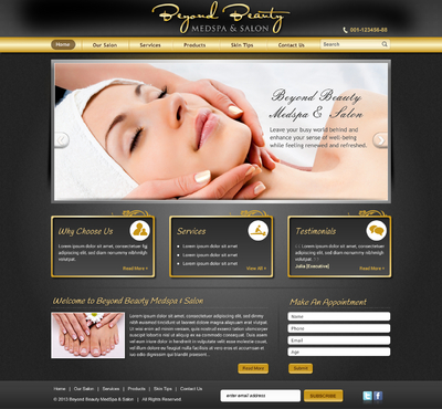 Beyond Beauty Medspa & Salon Complete Web Design Solution  Draft # 59 by jogdesigner