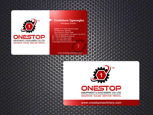 Onestop Equipment Co. Ltd. Business Cards and Stationery  Draft # 8 by apong