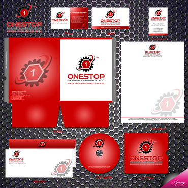 Onestop Equipment Co. Ltd. Business Cards and Stationery  Draft # 10 by apong