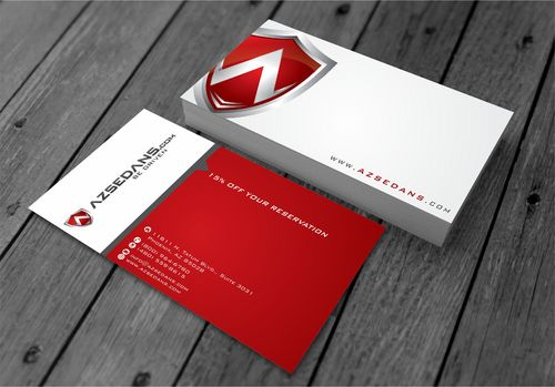 AZ Sedans Discount Card Business Cards and Stationery  Draft # 99 by xtremecreative3