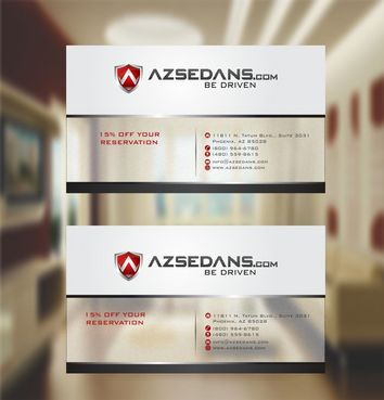 AZ Sedans Discount Card Business Cards and Stationery  Draft # 121 by xtremecreative3