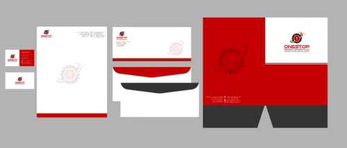 Onestop Equipment Co. Ltd. Business Cards and Stationery Winning Design by Xpert