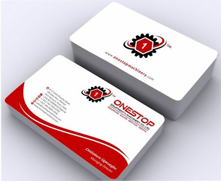 Onestop Equipment Co. Ltd. Business Cards and Stationery  Draft # 90 by Deck86