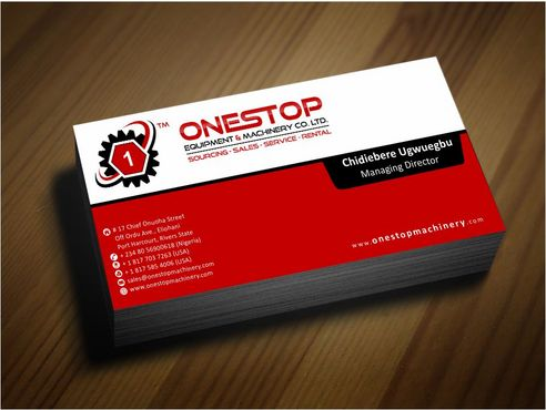 Onestop Equipment Co. Ltd. Business Cards and Stationery  Draft # 92 by Deck86