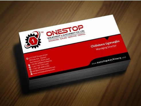 Onestop Equipment Co. Ltd. Business Cards and Stationery  Draft # 91 by Deck86