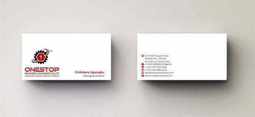 Onestop Equipment Co. Ltd. Business Cards and Stationery  Draft # 95 by Deck86