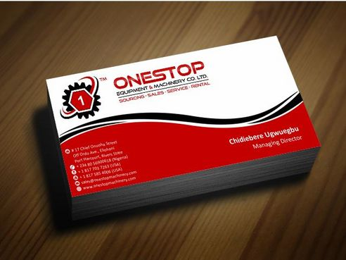 Onestop Equipment Co. Ltd. Business Cards and Stationery  Draft # 94 by Deck86