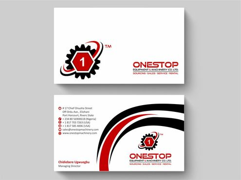 Onestop Equipment Co. Ltd. Business Cards and Stationery  Draft # 96 by Deck86
