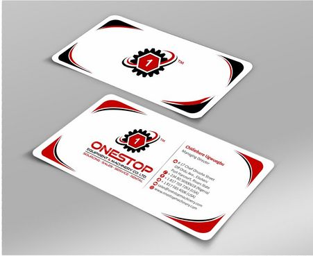 Onestop Equipment Co. Ltd. Business Cards and Stationery  Draft # 97 by Deck86