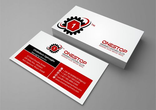 Onestop Equipment Co. Ltd. Business Cards and Stationery  Draft # 98 by Deck86