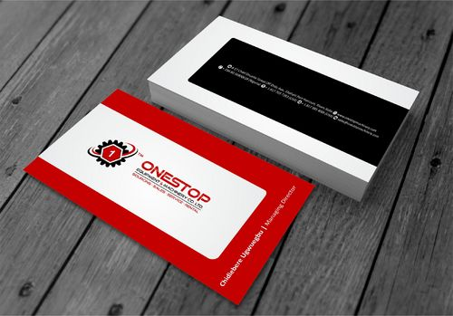 Onestop Equipment Co. Ltd. Business Cards and Stationery  Draft # 100 by xtremecreative3
