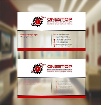 Onestop Equipment Co. Ltd. Business Cards and Stationery  Draft # 107 by xtremecreative3