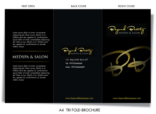 Beyond Beauty Medspa & Salon Marketing collateral Winning Design by pivotal