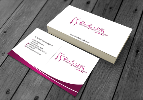 Beverly hills cosmetic surgical group and dr's name is fardad forouzanpour Business Cards and Stationery  Draft # 158 by jpgart92