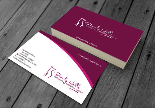 Beverly hills cosmetic surgical group and dr's name is fardad forouzanpour Business Cards and Stationery  Draft # 159 by jpgart92