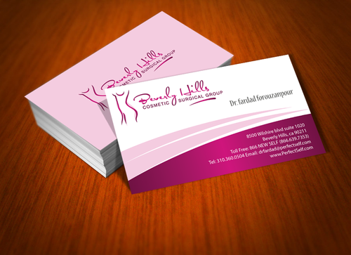 Beverly hills cosmetic surgical group and dr's name is fardad forouzanpour Business Cards and Stationery  Draft # 161 by jpgart92