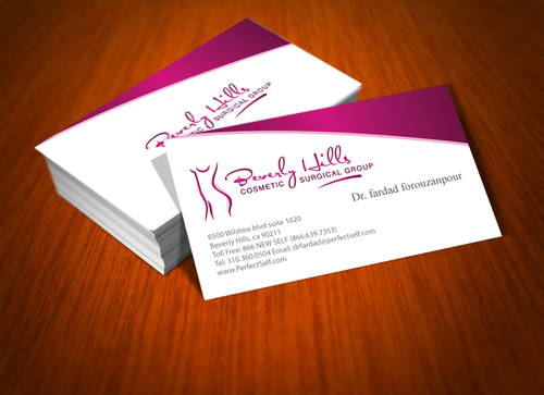 Beverly hills cosmetic surgical group and dr's name is fardad forouzanpour Business Cards and Stationery  Draft # 165 by jpgart92