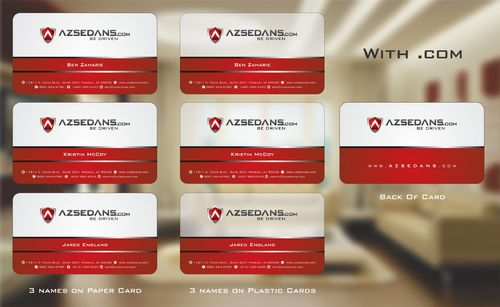 AZ Sedans Discount Card Business Cards and Stationery  Draft # 125 by Deck86